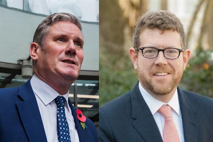 Keir Starmer has asked Matthew Doyle (right) to become Labour's interim comms chief basis (Starmer credit: Getty, Doyle Credit: Doyle)