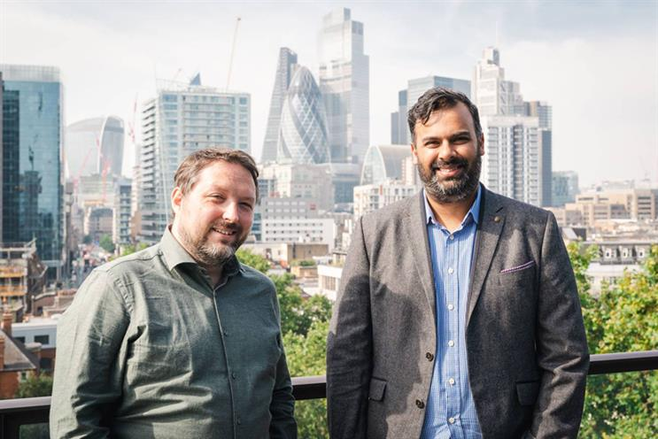 (L-R) Luke Alexander and Dr Abhinav Bajpai's agency, Marmelo, has been acquired by Four Communications Group