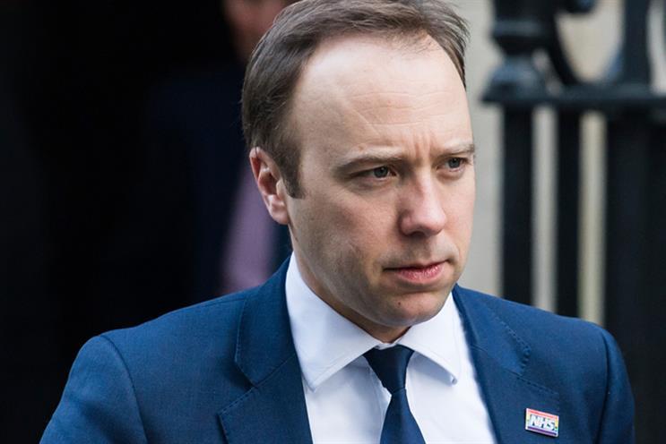 Former health secretary Matt Hancock