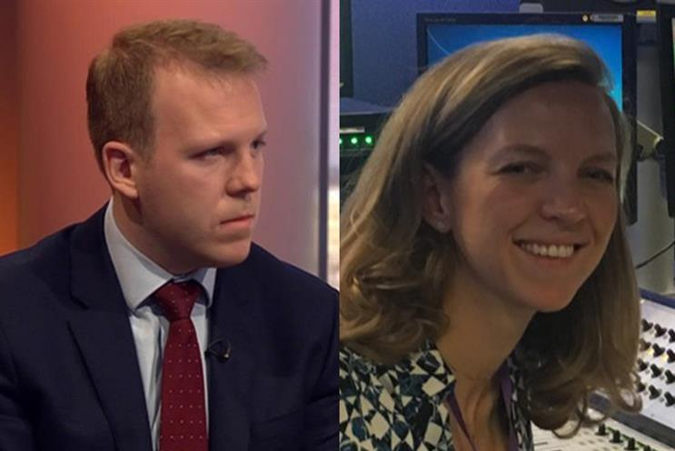 Spads Robert Oxley (L) and Lucy Noakes (R) are among those to have survived the latest cabinet reshuffle