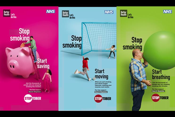 Images from the new Stoptober campaign