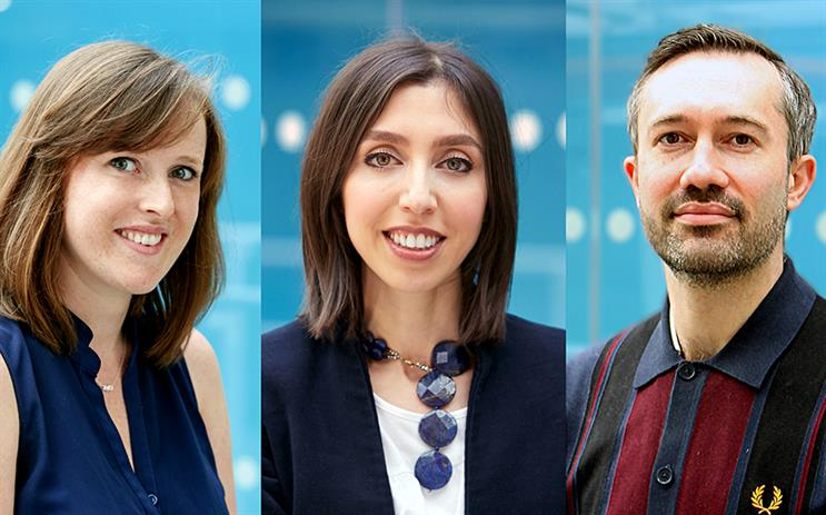 (L-R) Claire Long and Sabrina Gomersall have been promoted and Rick Evans joins the agency from Ogilvy