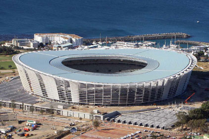 World Cup: football stadium in Cape Town