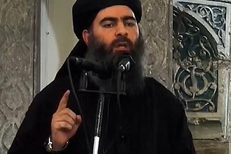 The man alleged to be IS leader Abu Bakr Al-Baghdadi (credit: Al-Furqan Media/Anadolu Agency/Getty Images)