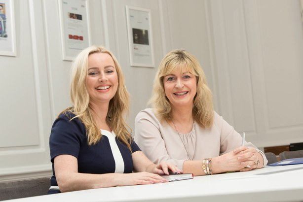 Beattie Group CEO Laurna Woods (left) and Alison Clarke