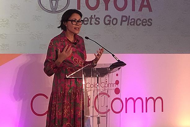 Journalist Ann Curry at ColorComm 2019. (Photo credit: Gideon Fidelzeid)