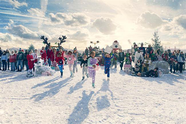 Asda 'brings Christmas home' in snow-filled campaign