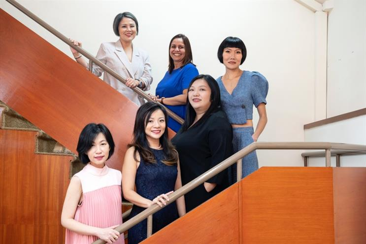 (Front row, from L-R) Lim Wee Ling, Director, Ginny-Ann Oh, Director, Cho Pei Lin, Managing Director; (Back row, from L-R) Julie Chiang, Director, Anu Gupta, Director, Sharon Koh, Director