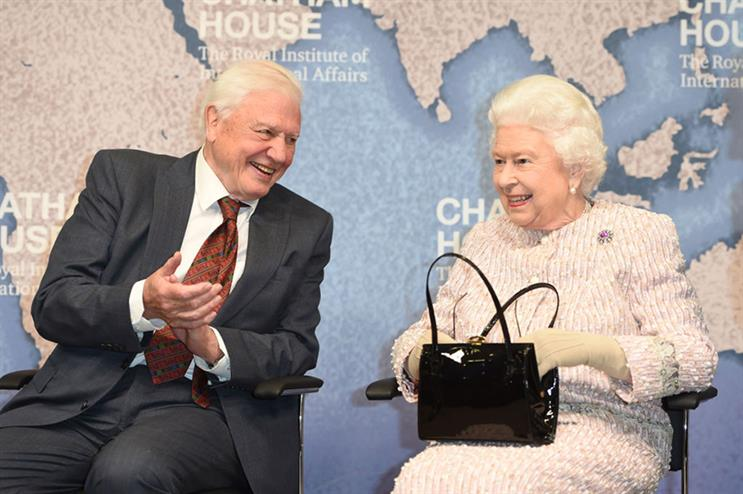 Sir David Attenborough received the Chatham House Prize from The Queen this month (©GettyImages)