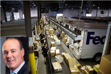 Fed Ex: Bill Margaritis (inset), corporate VP of global communications and investor relations steps down (Credit: Steve Cook)