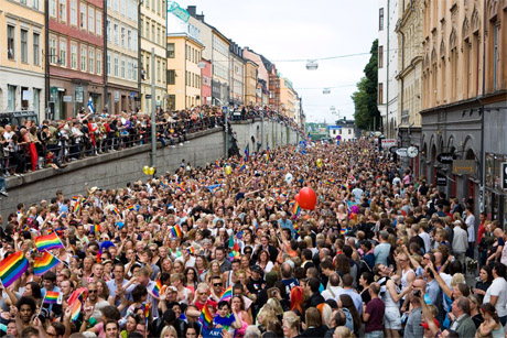 In the pink: Stockholm is being promoted to the gay market