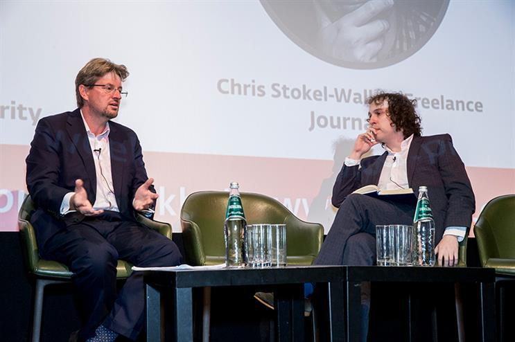 (l-r) The CMA's Jason Freeman and journalist Chris Stokel-Walker discuss influencer marketing regulation