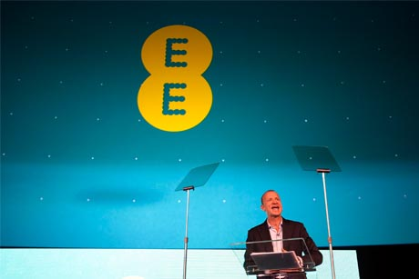 New brand:  Olaf Swantee, UK CEO of EE, announces the group's rebrand