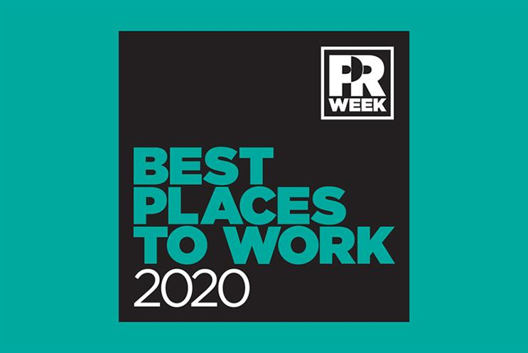 PRWeek UK Best Places to Work Awards opens for entries - with new categories for 2020