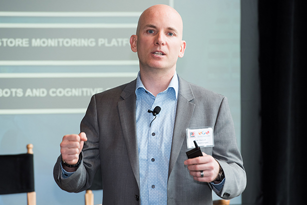 Customers expect to be as connected in store as they are online, said Zebra Technologies CTO Tom Bianculli during his keynote at the Burson-Marsteller-hosted event