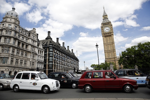 Parliament Square in London yesterday (picture credit: Bloomberg via Getty Images)