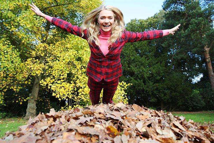 Watch: Supermodel Jodie Kidd leaf jumps into Boden Autumn campaign