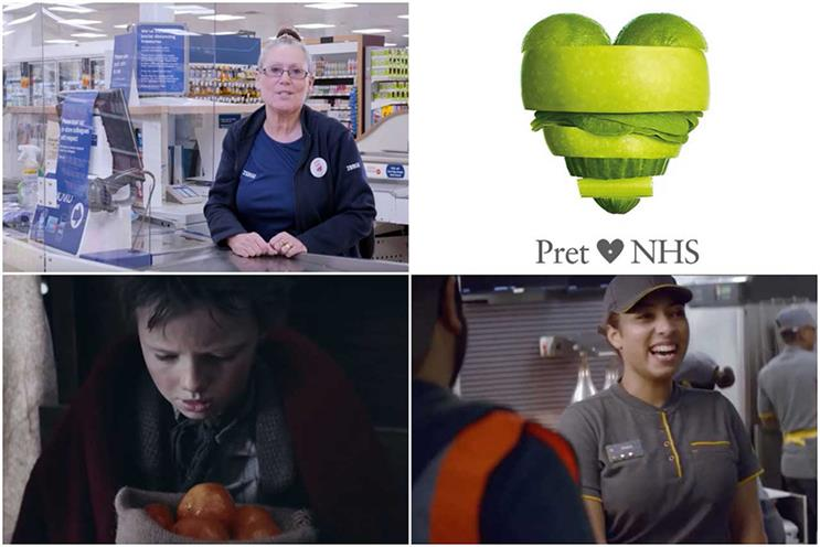 Celebrated for protecting employees: (clockwise from top left) Tesco, Pret, McDonald's and Sainsbury's