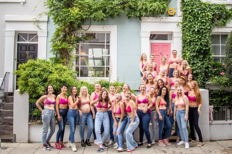 Influencers affected by breast cancer joined forces to support Breast Cancer Awareness Month (Pic: Beckie Egan)