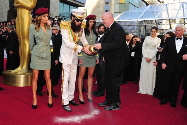 Urning your PR stripes: Sacha Baron Cohen stunt (Rex Features)