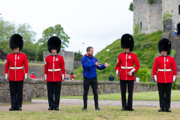 Watch: Huge city-wide relay launches Cricket World Cup in Cardiff