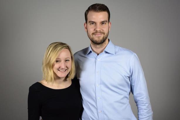 L-R: Linnea Rinas and Joseph Borenstein from Cohn & Wolfe Sweden