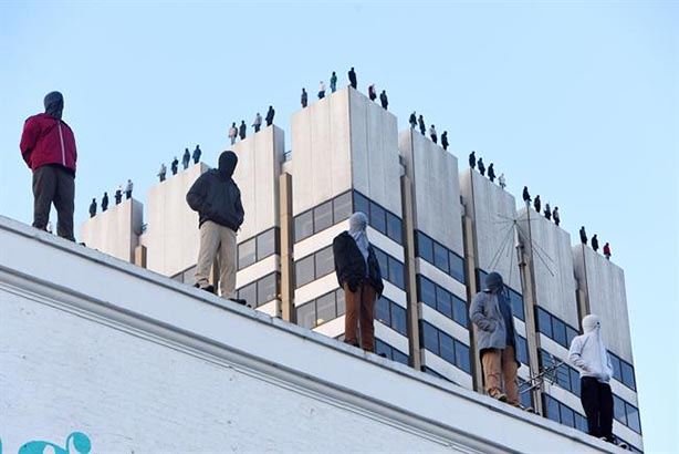 Calm installs 84 male suicide sculptures on ITV Tower