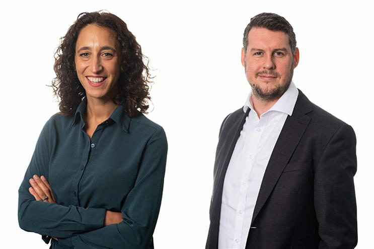 (L-R) Caroline Gordon and Dean Sowman have been promoted to reflect growth in the health practice