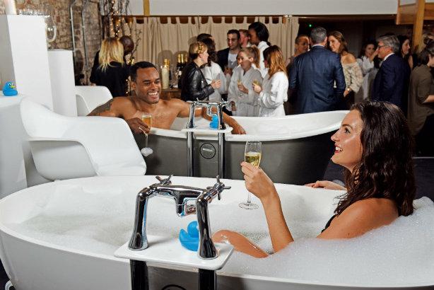 Frank PR runs pop-up Champagne bubble bath bar for bathroom retailer