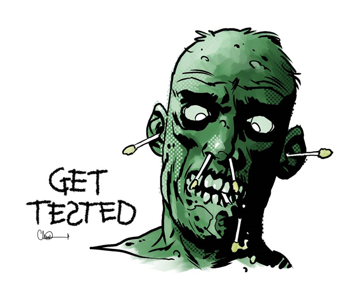 One of the new images created for Shropshire Council by Walking Dead comic book artist Charlie Adlard