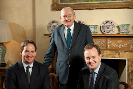 (l-r) Andrew Wilson, Sir Angus Grosshart and Malcolm Robertson