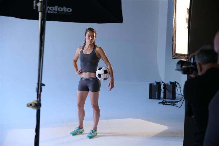 Kelley O'Hara appeared in the campaign just before she played in - and helped win - the 2015 World Cup