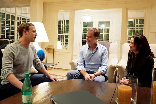 Mark Zuckerberg, Nick Clegg and Sheryl Sandberg (image via Sandberg's Facebook page)