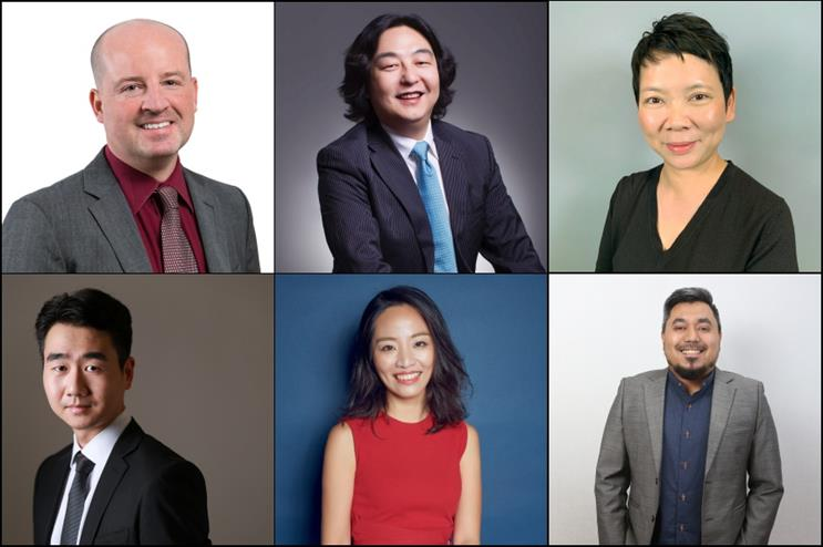 Clockwise from left to right: Brian Witte, Gao Ming, Winnie Lai, Elya Eusoff, Long Xi, Will Yuan