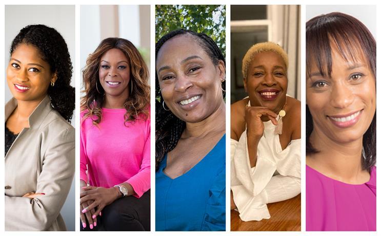 (L-R) Dorothy Burwell, Effie Kanyua, Barbara Phillips, Evadney Campbell and Jennifer Thomas