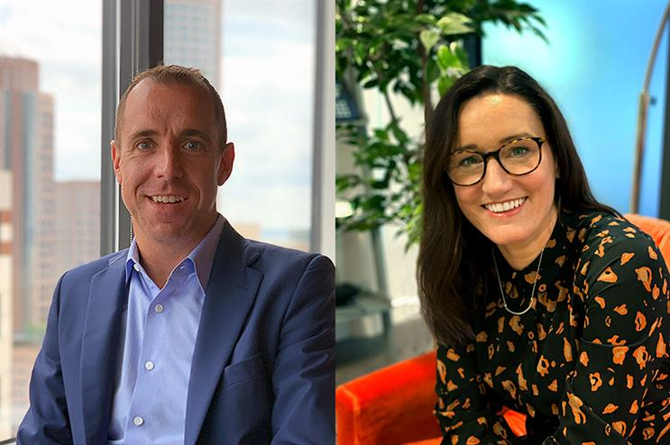 Leadership: Ben Beckley (left) is global president of Mind+Matter while Corrina Safeio (right) is its UK MD