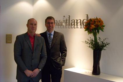 New venture: Peter Bowyer (left) and Neil Bennett launch Maitland Political