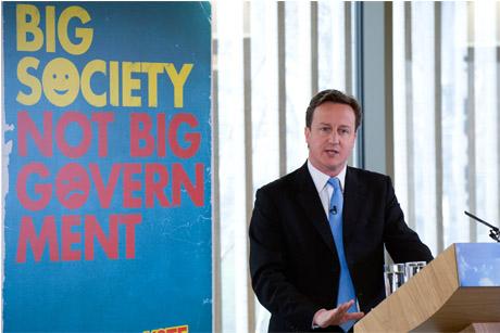 Big idea: David Cameron launches the Big Society concept