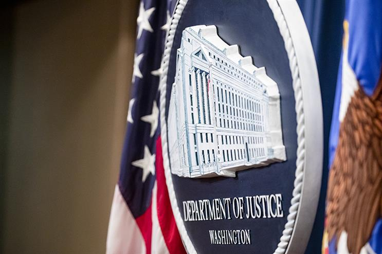 The U.S. Department of Justice seal. Getty Images