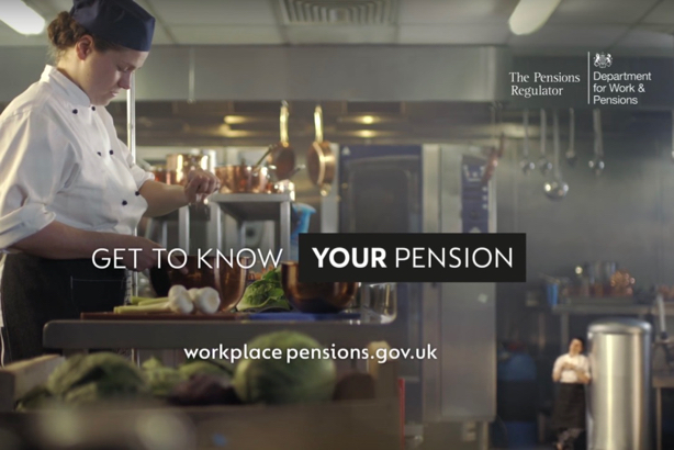 A still from the DWP auto-enrolment pensions ad