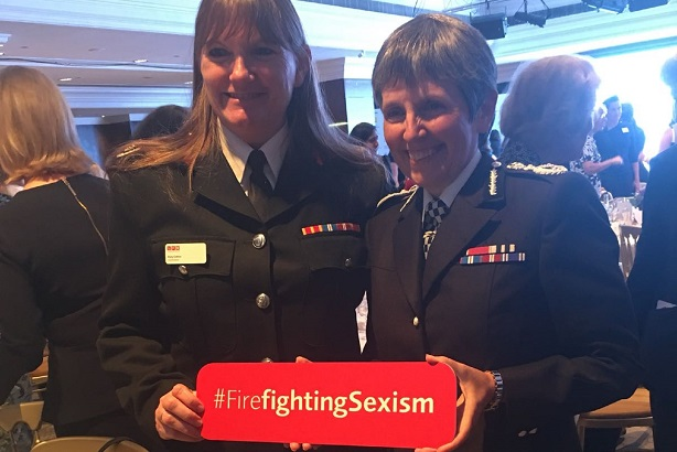 Campaign: LFB commissioner Dany Cotton with Met Police commissioner Cressida Dick
