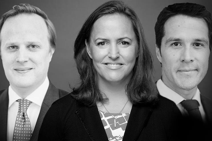 (L-R) Geoffrey Ghyoot, Deborah Scott and Grégoire Poisson