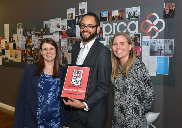 Winner: Transport for London's PR team won Gold in the In-house category in 2016