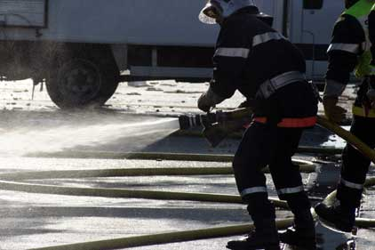 Strike action: London fire-fighters