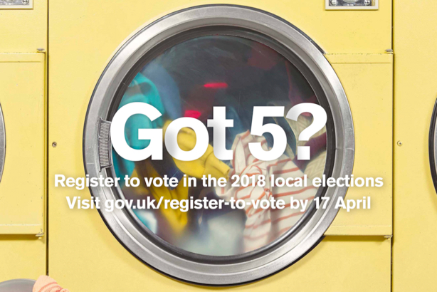 Got 5?: The Electoral Commission's campaign highlights how quick it is to register to vote