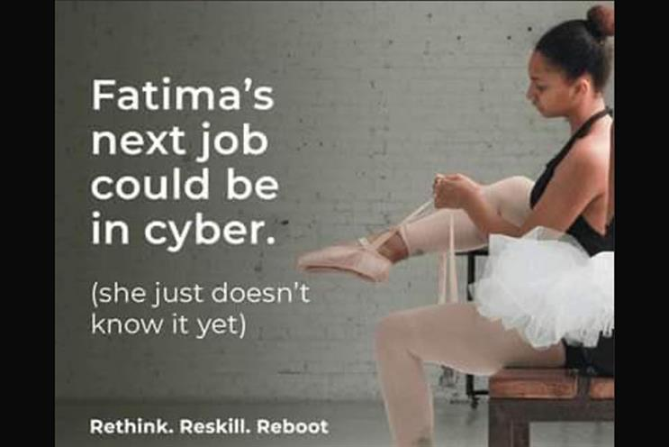Cyber first: campaign features ballerina encouraged to 'reskill'