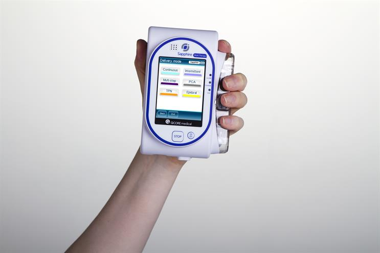 The Sapphire infusion pump, manufactured by Eitan Medical UK