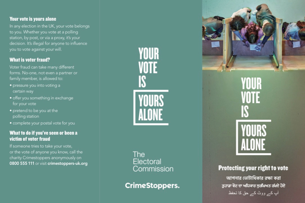 Electoral Commission: Campaign material translated into different languages