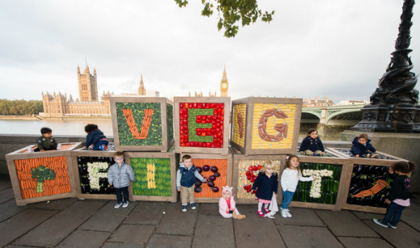 Children make special delivery for Ella's Kitchen's 'Veg for Victory' campaign