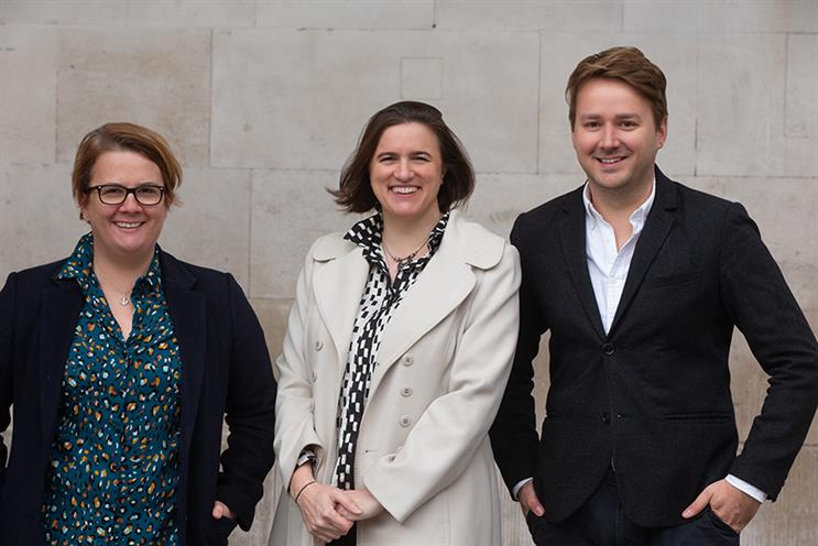 Founding partners (L-R): Carli Harper-Penman, Emily Wallace and Harry Shackleton